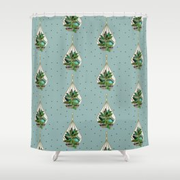 Hanging Terrariums Shower Curtain
