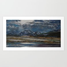 #8-Setting Sun among clouds, Near Kalispel MT Art Print