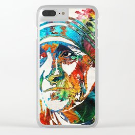 Mother Teresa Tribute by Sharon Cummings Clear iPhone Case