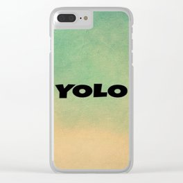 Yolo-42 Clear iPhone Case