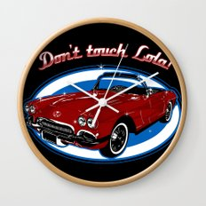 Don't Touch Lola Wall Clock