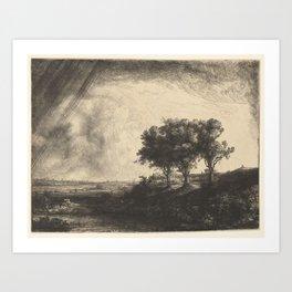 The Three Trees Art Print