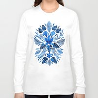 navy Long Sleeve T-shirts featuring Tropical Symmetry – Navy by Cat Coquillette