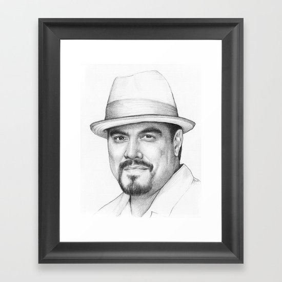 Angel Batista (DEXTER) Framed Art Print
