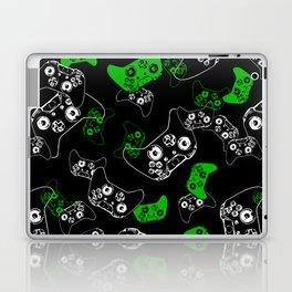 Video Game Black & Green Laptop & iPad Skin