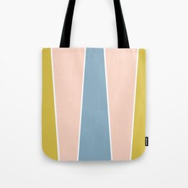 Retro Spring Color Block Tote Bag