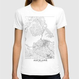 Auckland White Map T-shirt