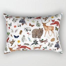Wild Woodland Animals Rectangular Pillow