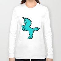 punk rock Long Sleeve T-shirts featuring Punk rock unicorn by junaputra
