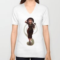 coven V-neck T-shirts featuring Witchin' by rnlaing