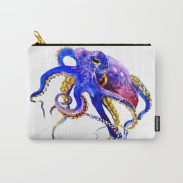 Octopus, Blue, Gold,Purple Carry-All Pouch