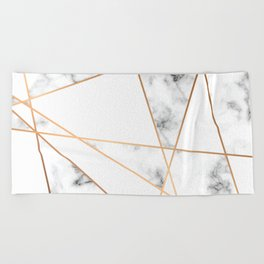 Marble Geometry 054 Beach Towel