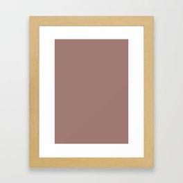 Burnished Brown Framed Art Print