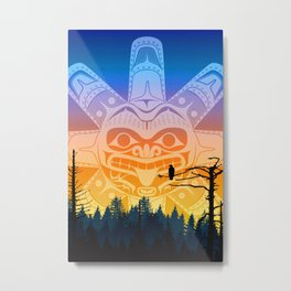 qathet Sunset Metal Print