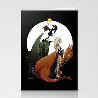 mother of dragons Stationery Cards featuring Mother of Dragons by LaPendeja