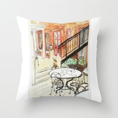 Afternoon At Maxfields  Throw Pillow