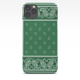 Classic Green Bandana iPhone Case