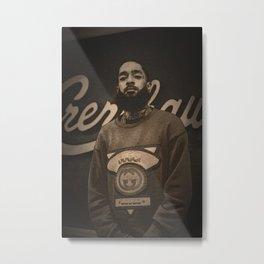 Society6 L.A. Crenshaw Legend - StreetArt - Stylin' 101 - Nip Hussle Art - Nipsey The Great 874 Metal Print