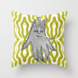 Krampus squidcat Throw Pillow