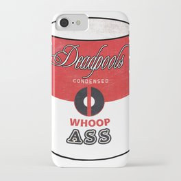 Deadpool's Can of Whoop-Ass! iPhone Case