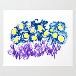 illuminated sky Art Print