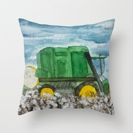 Cotton Picker Throw Pillow