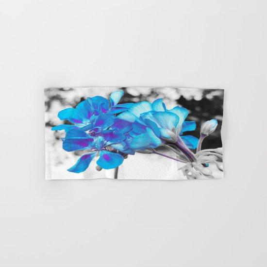 Turquoise Flowers Hand & Bath Towel