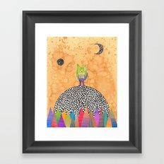 Peace inside the heart's cave Framed Art Print