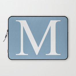 Letter M sign on placid blue background Laptop Sleeve