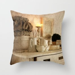 Shabby Charme Grandma's Home Throw Pillow