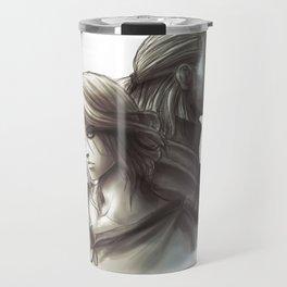 The Witcher 3 - Ciri / Geralt Artwork Travel Mug