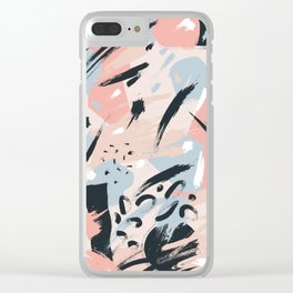 Pastel abstraction I Clear iPhone Case
