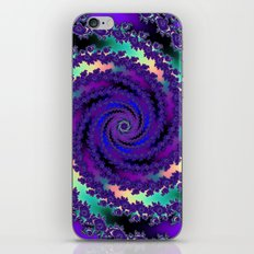 Purple Hurricane Fractal iPhone & iPod Skin