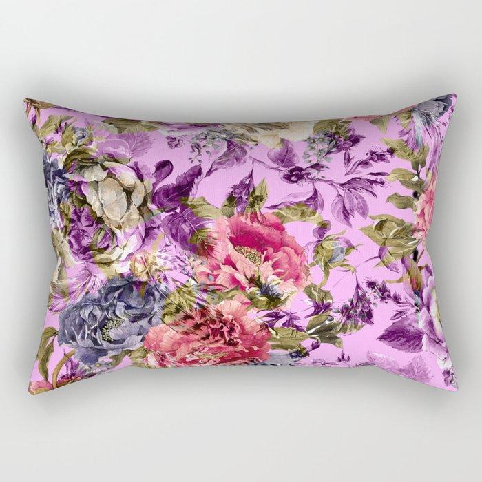 Seamless Floral Pattern Rectangular Pillow