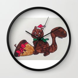 Nutty Squirrel Wall Clock