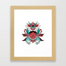 Kurbits Red/Turquoise Framed Art Print
