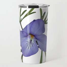 Viola Pedata, Birds-foot Violet #society6 #spring Travel Mug