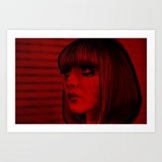 Red Doll Art Print