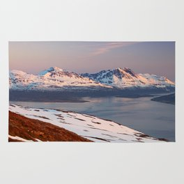 Mountain in Tromso Rug