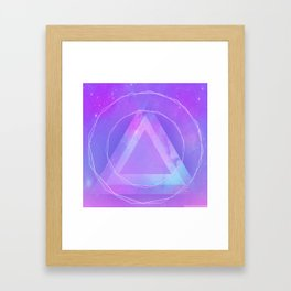 Galaxy triangle Framed Art Print