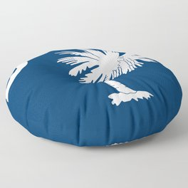 Hurricane Matthew South Carolina Flag Floor Pillow