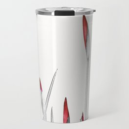 Red and White Spring Travel Mug