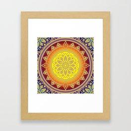'Infinite Light' Mandala Gold Blue Purple Red Orange Yellow Framed Art Print