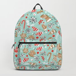 Gingerbread Dreams - Aqua Backpack