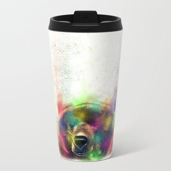 Bear pride Metal Travel Mug