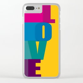 The love is colorful Clear iPhone Case