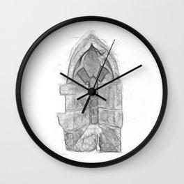 Medieval Church Window Wall Clock
