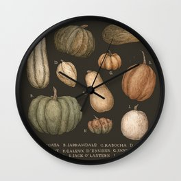 Pumpkins and Gourds Wall Clock