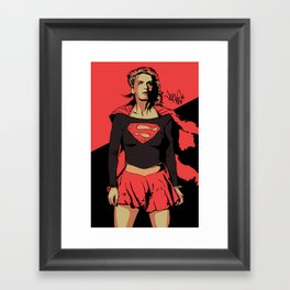 Girl of Steel Framed Art Print