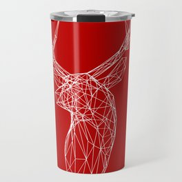 3D Stag Trophey Head Wire Frame Travel Mug